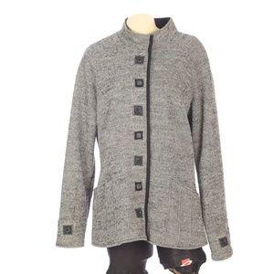 Icelandic Designs Wool Sweater Jacket Coat Snaps